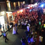 Wedding parade on Bourbon Street