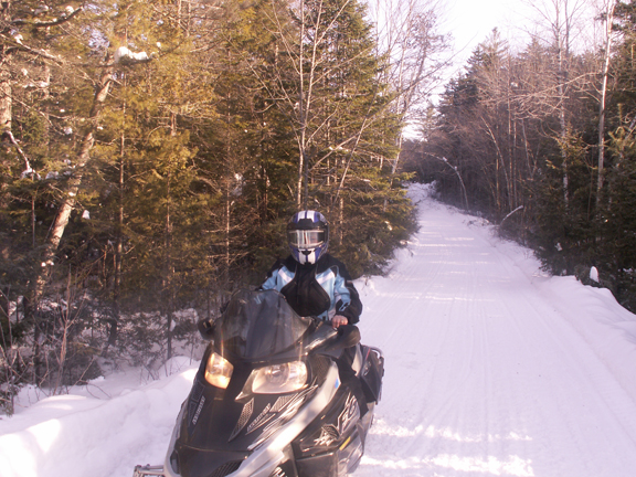 Jan on snowmobile